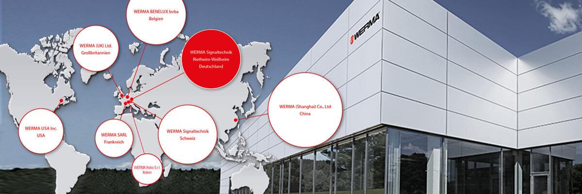 WERMA weltweit - Niederlassungen und Vertretungen