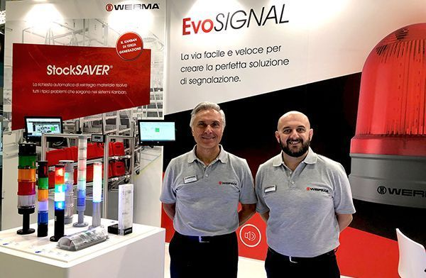 SPS IPC Drives Italia 2019: WERMA presents the EvoSIGNAL and intelligently networked signal Technology