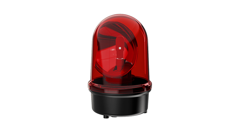 Rotating Mirror Beacon LED red