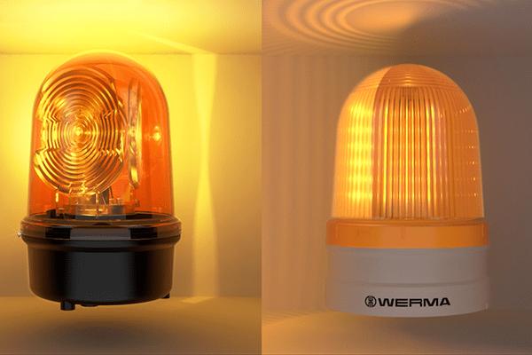Comparación de imágenes luminosas