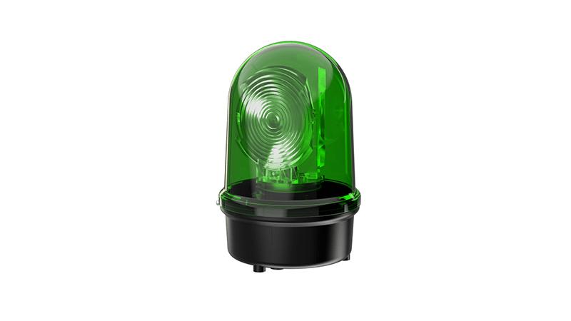 Rotating Mirror Beacon LED green