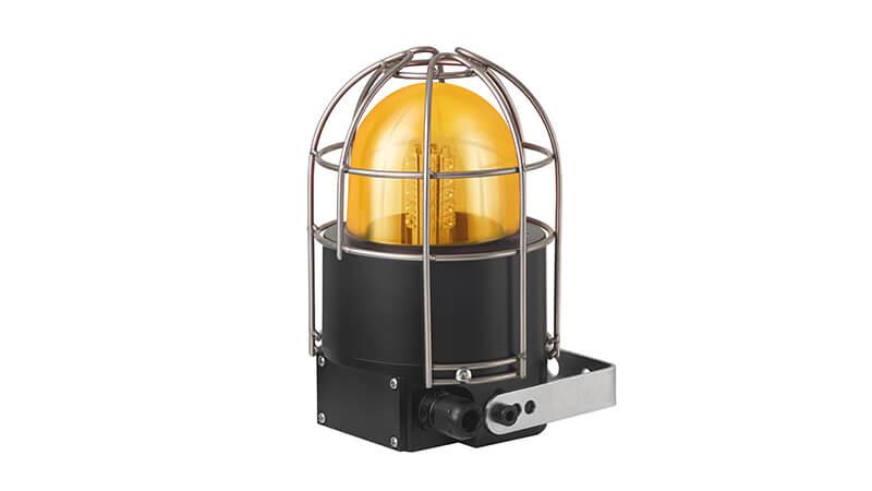 Ex-Leuchten - LED-Rundumsignalleuchte mit Drahtschutzkorb, gelb
