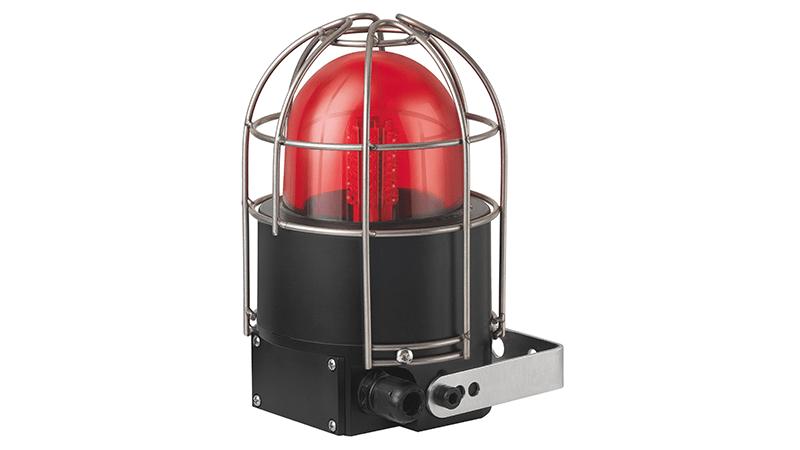 Ex-Leuchten - LED-Rundumsignalleuchte mit Drahtschutzkorb, rot